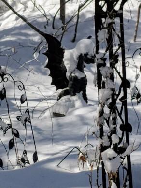 Gargoyle in snow